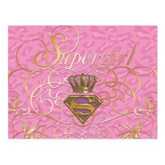 Cartão Postal Rosa de Supergirl