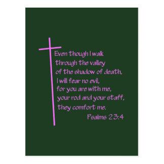 Cartão Postal Rosa do 23:4 dos salmos