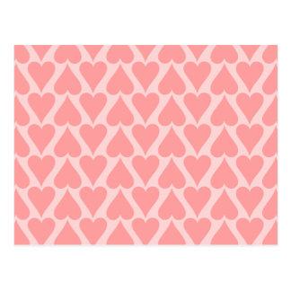 Cartão Postal Rosa do coral do fundo do dia dos namorados dos