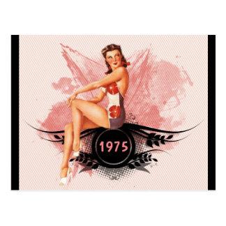 Cartão Postal Rosa do Pinup