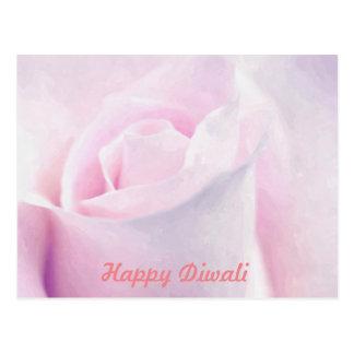Cartão Postal Rosa doce do rosa, arte floral da pintura da