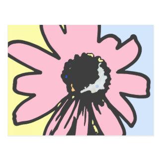 Cartão Postal Rosa retro RMPD06 floral azul do amarelo da