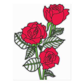 Cartão Postal Rosas