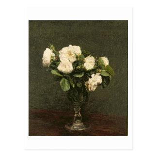 Cartão Postal Rosas brancos, 1875 (óleo em canvas)