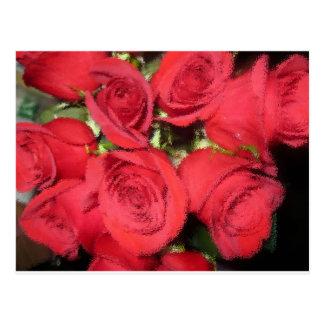 Cartão Postal Rosas com escova seca II.jpg