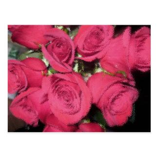 Cartão Postal Rosas cor-de-rosa com escova seca II.jpg