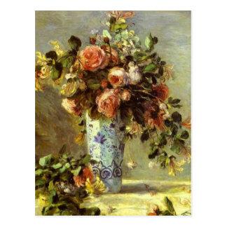 Cartão Postal Rosas e jasmim