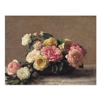 Cartão Postal Rosas em um prato, 1882
