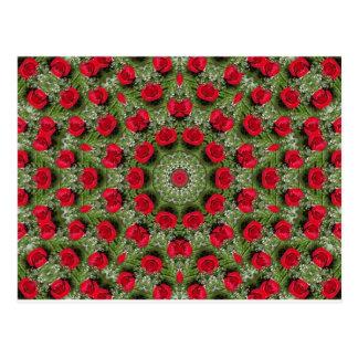 Cartão Postal Rosas vermelhas