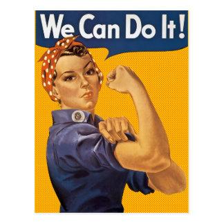 Cartão Postal Rosie o rebitador nós podemos fazê-lo bolinhas