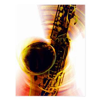Cartão Postal Rotação 1 do saxofone
