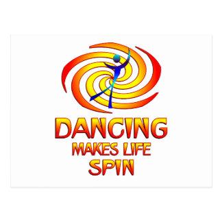 Cartão Postal Rotações de dança