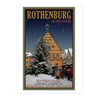 Cartão Postal Rothenburg Reiterlesmarkt
