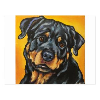 Cartão Postal Rottweiler doce