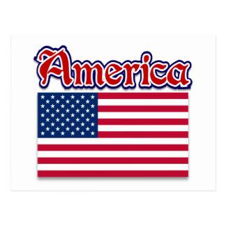 Cartão Postal Roupa de América e presentes americanos do orgulho