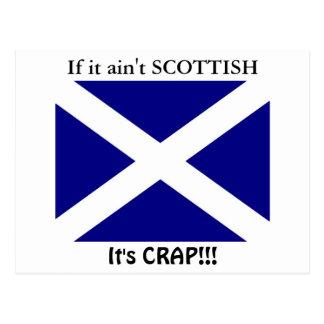 Cartão Postal Roupa escocesa da bandeira