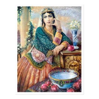 Cartão Postal Roupa iraniana tradicional