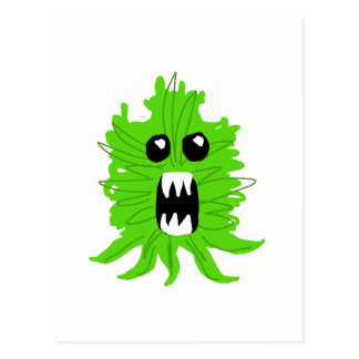Cartão Postal Roupa verde do bebê do monstro