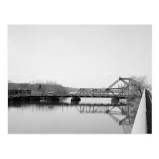 Cartão Postal Rte. 7 ponte, rio de Passaic, Belleville, NJ
