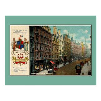 Cartão Postal Rua 1900 do corporaçõ do vintage Ca Birmingham