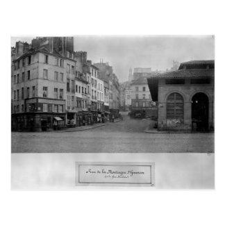 Cartão Postal Rua de la Montagne Sainte-Genevieve, Paris