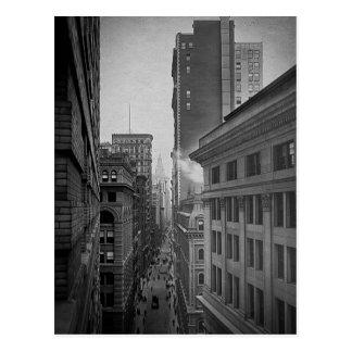 Cartão Postal Rua de William norte do lugar New York da troca