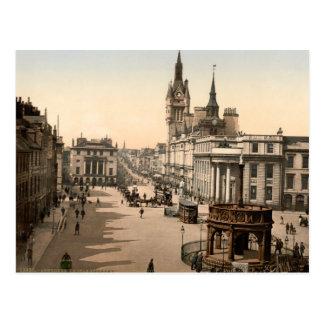 Cartão Postal Rua do castelo, Aberdeen, Scotland