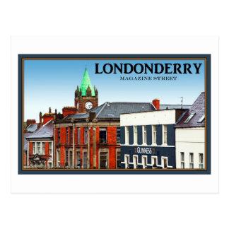Cartão Postal Rua do compartimento em Londonderry