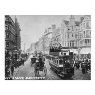 Cartão Postal Rua do mercado, Manchester, c.1910