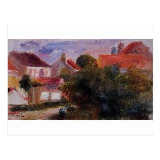 Cartão Postal Rua em Essoyes por Pierre-Auguste Renoir