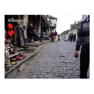 Cartão Postal Rua em Gjirokastër, Albânia