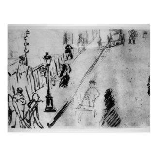 Cartão Postal Rua Mosnier de Manet  , c.1878