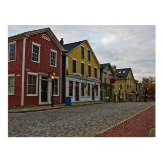 Cartão Postal Rua New Bedford da água
