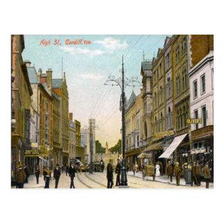 Cartão Postal Rua principal, Cardiff