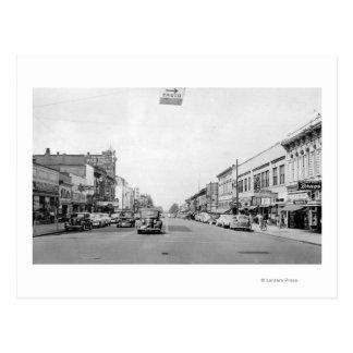 Cartão Postal Rua principal em Walla Walla, fotografia de WA