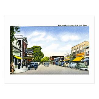 Cartão Postal Rua principal, Hyannis, Cape Cod, Massachusetts