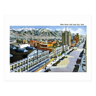 Cartão Postal Rua principal, Salt Lake City, Utá