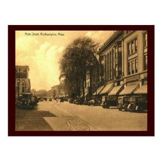 Cartão Postal Rua principal, vintage de Northampton,