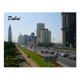 Cartão Postal ruas de Dubai