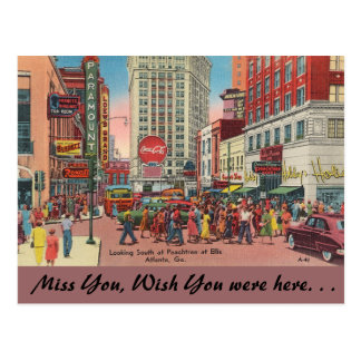 Cartão Postal Ruas de Geórgia, de Peachtree & de Ellis, Atlanta