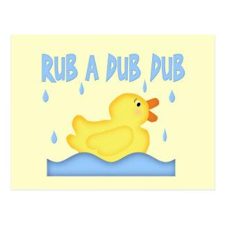 Cartão Postal RUB Ducky de borracha amarela um Dub do Dub