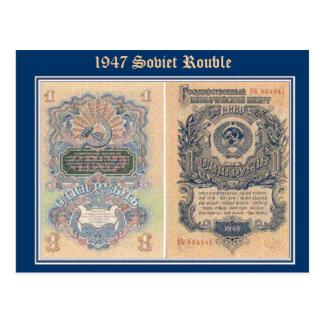 Cartão Postal Rublo, rublo de 1947 sovietes