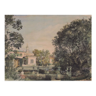 Cartão Postal Rudolf von Alt-Imperial Palácio Livadia em Crimeia