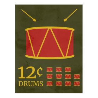 Cartão Postal Rufar de doze bateristas