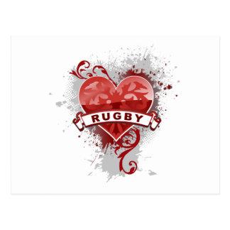 Cartão Postal Rugby do amor