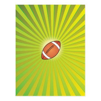 Cartão Postal Rugby do futebol americano