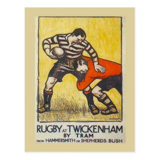 Cartão Postal Rugby em Twickenham pelo bonde de Hammersmith