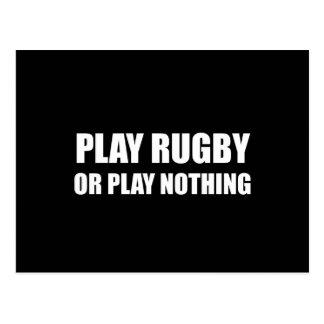 Cartão Postal Rugby ou nada do jogo