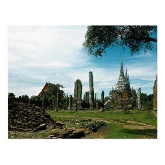 Cartão Postal Ruínas antigas do templo, perto de Banguecoque,