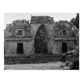 Cartão Postal Ruínas antigas: Entrada a Labna, Iucatão, México